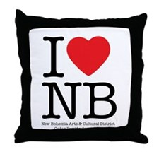 I Heart NB Throw Pillow