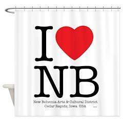 I Heart NB Shower Curtain