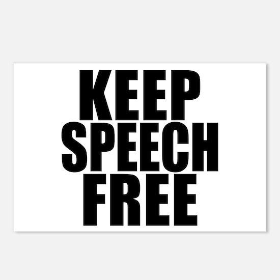 Keep Speech Free Postcards (Package of 8)