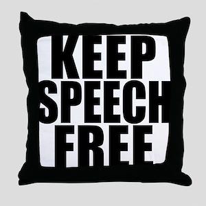 Keep Speech Free Throw Pillow