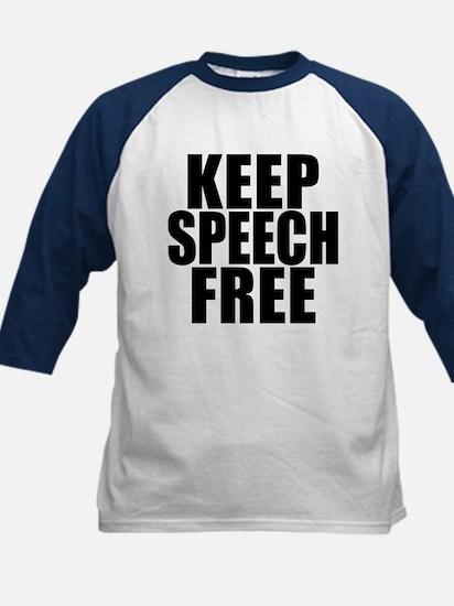 Keep Speech Free Kids Baseball Jersey