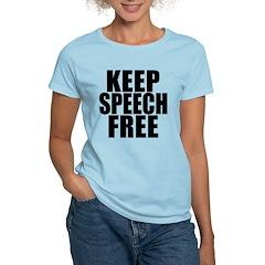 Keep Speech Free Women's Light T-Shirt