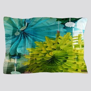 mint lime green teal abstract Pillow Case