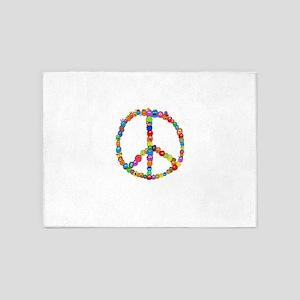 Peace Fuzzies 5'x7'Area Rug