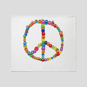 Peace Fuzzies Throw Blanket