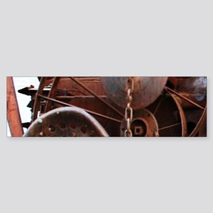 grunge Mechanical Gears rustic Bumper Sticker