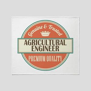 Agricultural Engineer Throw Blanket