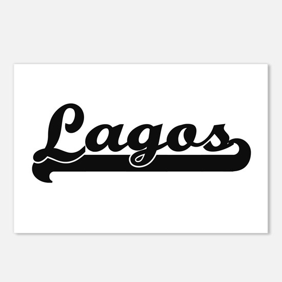 Lagos Nigeria Classic Re Postcards (Package of 8)