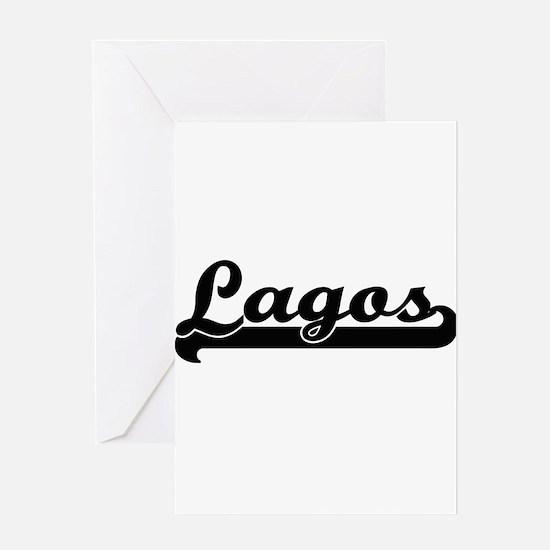 Lagos Nigeria Classic Retro Design Greeting Cards