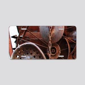 grunge Mechanical Gears rus Aluminum License Plate