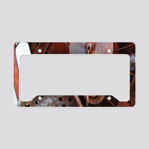 grunge Mechanical Gears rusti License Plate Holder