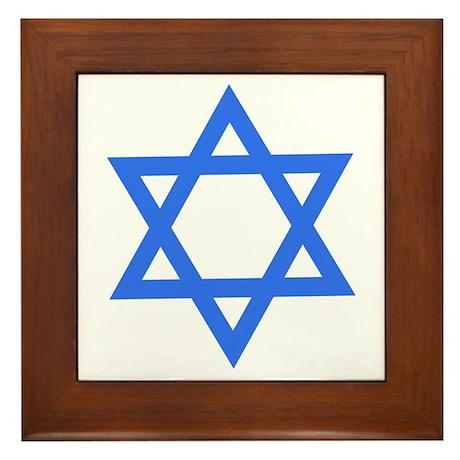 Star of David Framed Tile
