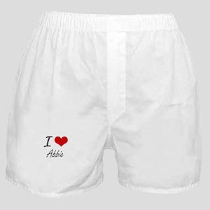 I Love Abbie artistic design Boxer Shorts