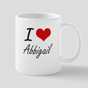 I Love Abbigail artistic design Mugs