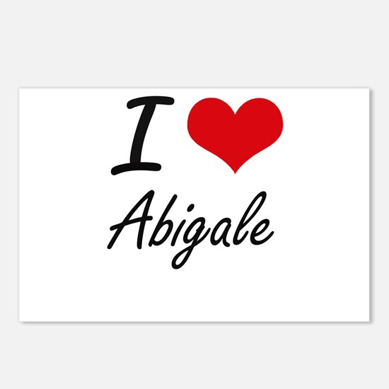 I Love Abigale artistic d Postcards (Package of 8)