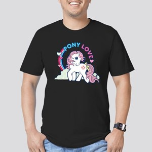 MLP Retro Pony Love Men's Fitted T-Shirt (dark)