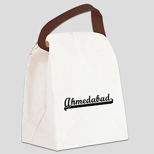 Ahmedabad India Classic Retro De Canvas Lunch Bag