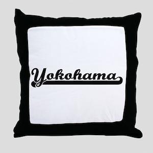 Yokohama Japan Classic Retro Design Throw Pillow