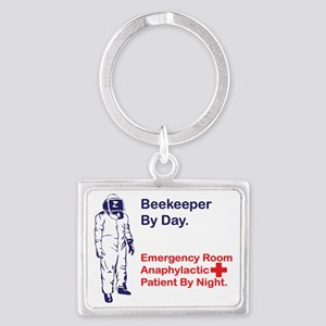 Beekeeper by day Landscape Keychain