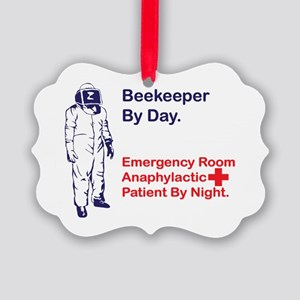 Beekeeper by day Picture Ornament