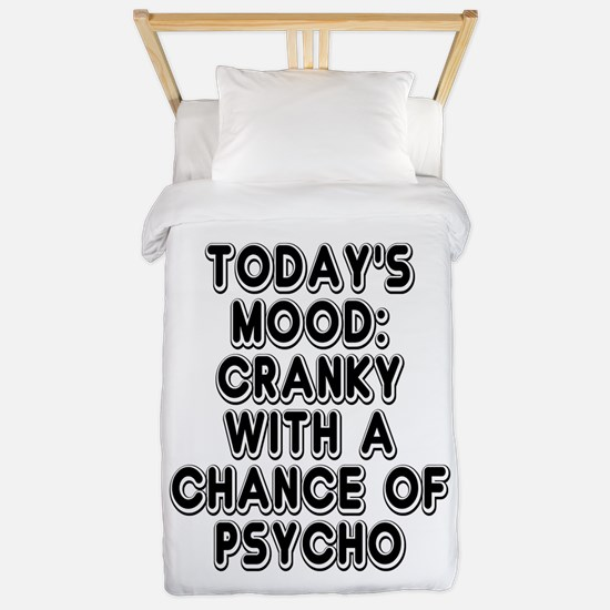 Cranky With A Chance Of Psycho Twin Duvet