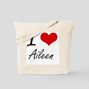 I Love Aileen artistic design Tote Bag