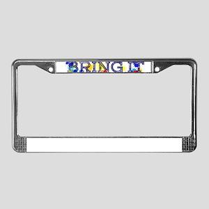 BRING IT License Plate Frame
