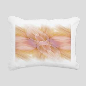 hipster ombre flower wat Rectangular Canvas Pillow