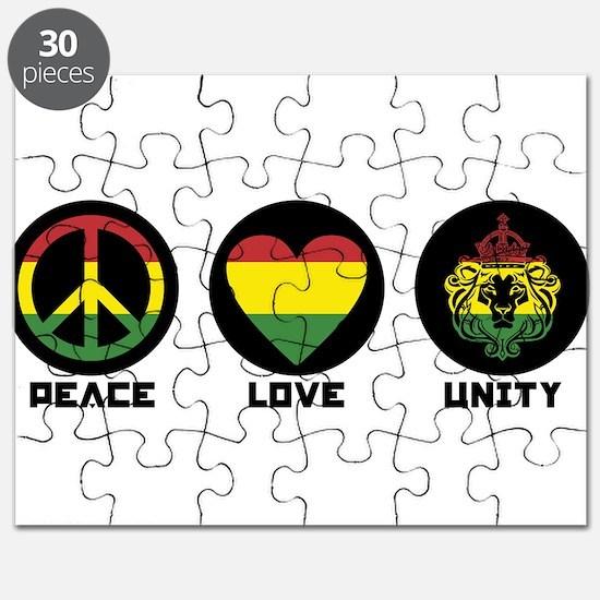 PEACE LOVE UNITY Reggae lion Puzzle