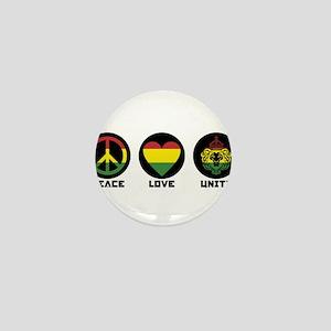 PEACE LOVE UNITY Reggae lion Mini Button