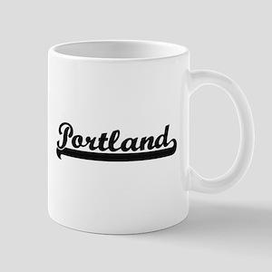 Portland Oregon Classic Retro Design Mugs