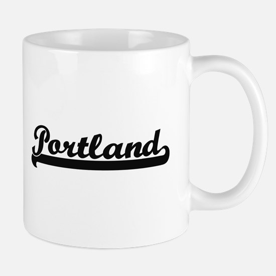 Portland Oregon Classic Retro Design Mugs