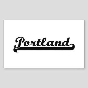Portland Oregon Classic Retro Design Sticker