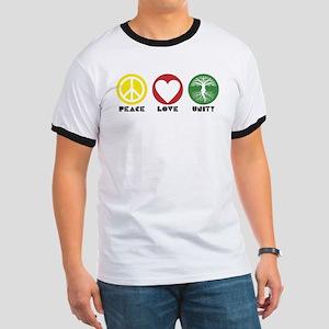PEACE LOVE UNITY - Reggae tree of life T-Shirt