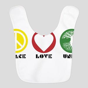 PEACE LOVE UNITY - Reggae tree of life Bib