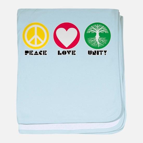 PEACE LOVE UNITY - Reggae tree of life baby blanke