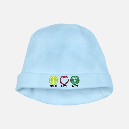 PEACE LOVE UNITY - Reggae tree of life baby hat