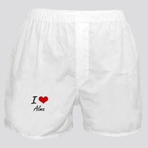 I Love Alma artistic design Boxer Shorts