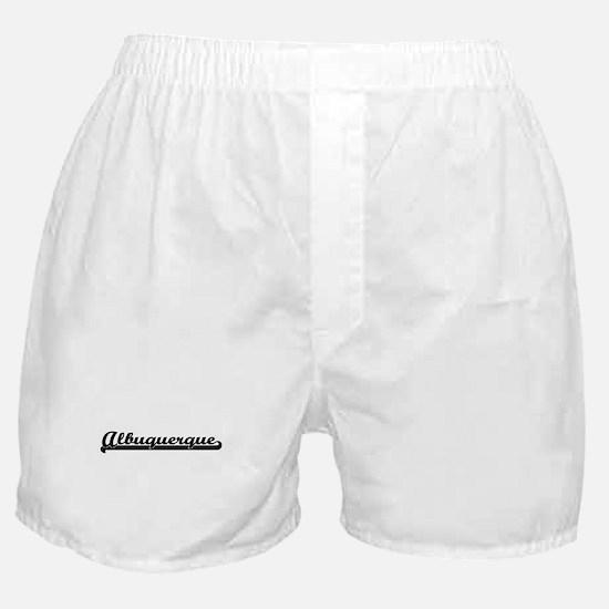 Albuquerque New Mexico Classic Retro Boxer Shorts