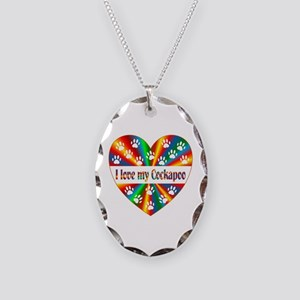 Cockapoo Love Necklace Oval Charm