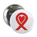 Red Awareness Ribbon Heart 2.25