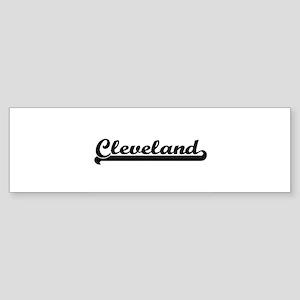 Cleveland Ohio Classic Retro Design Bumper Sticker