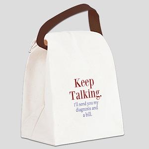 Keep Talking Canvas Lunch Bag