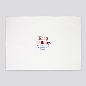 Keep Talking 5'x7'Area Rug