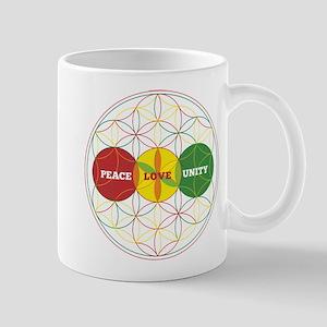 PEACE LOVE UNITY - flower of life Mugs