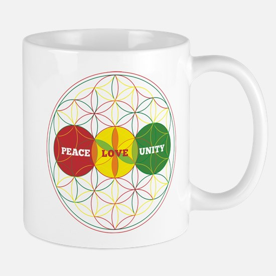 PEACE LOVE UNITY - flower of life Mugs