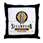 Steampunk Coffee Industrial Strength Throw Pillow
