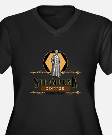 Steampunk Coffee Industrial Strength Plus Size T-S