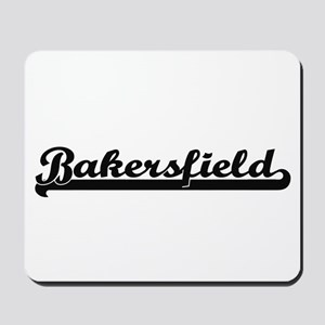 Bakersfield California Classic Retro Des Mousepad