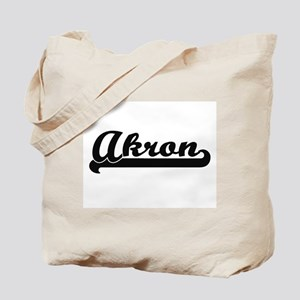 Akron Ohio Classic Retro Design Tote Bag